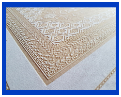 Carving and stamping crafts on the different colors nubuk materials. Custom designs accepted.